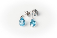 18ct gold Cerrone Blue Topaz Earrings
