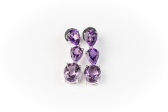 18ct gold Cerrone amethyst earrings