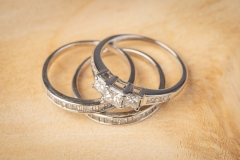 18ct gold Michael Hill bridal set