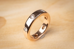 18ct rose gold & diamond ring by Michael Hill