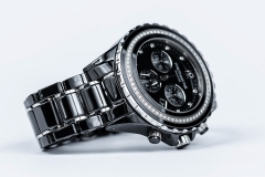 Michael Hill diamond & black ceramic watch